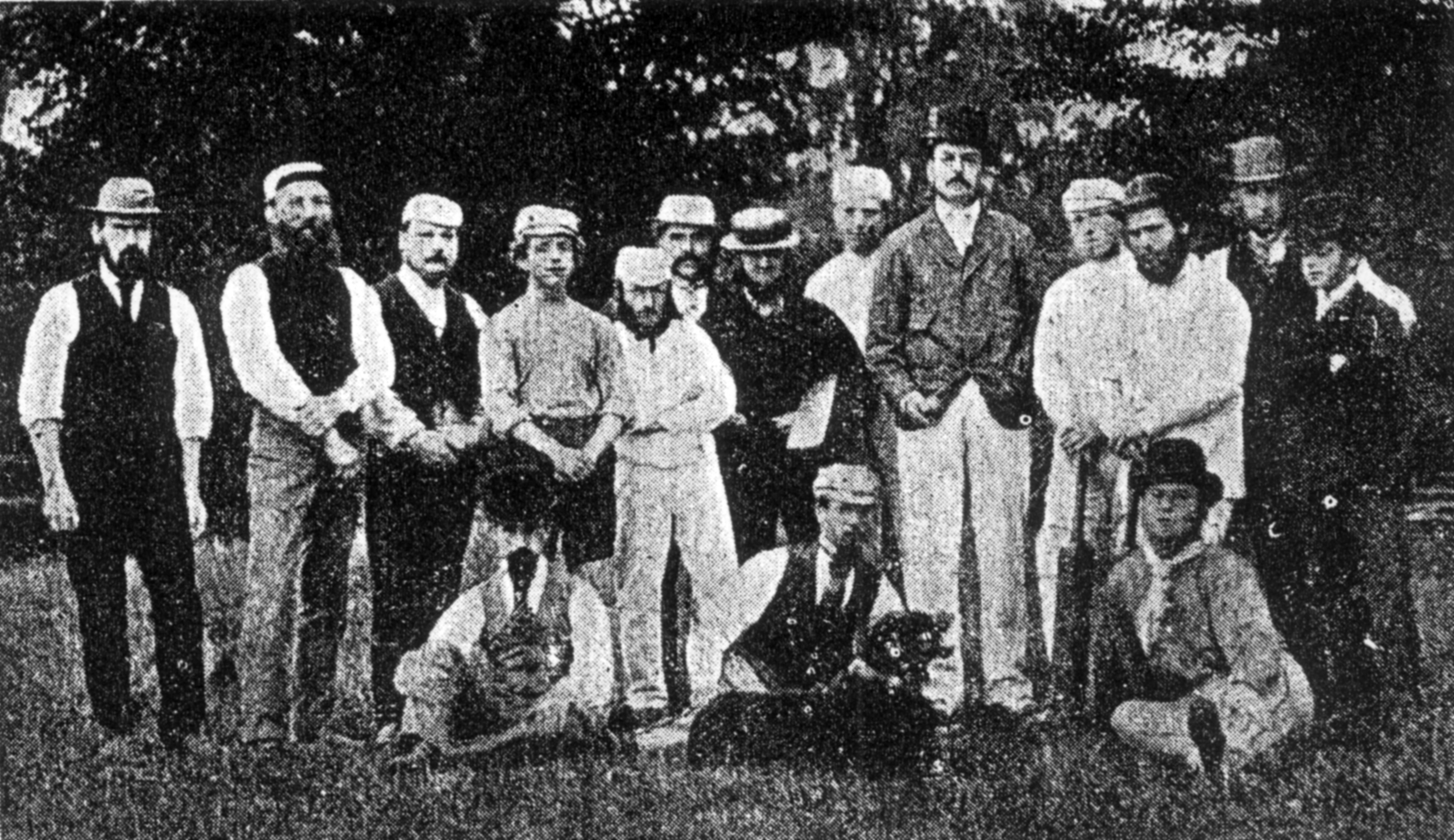 1878 Cricket Group photo BWT 1932