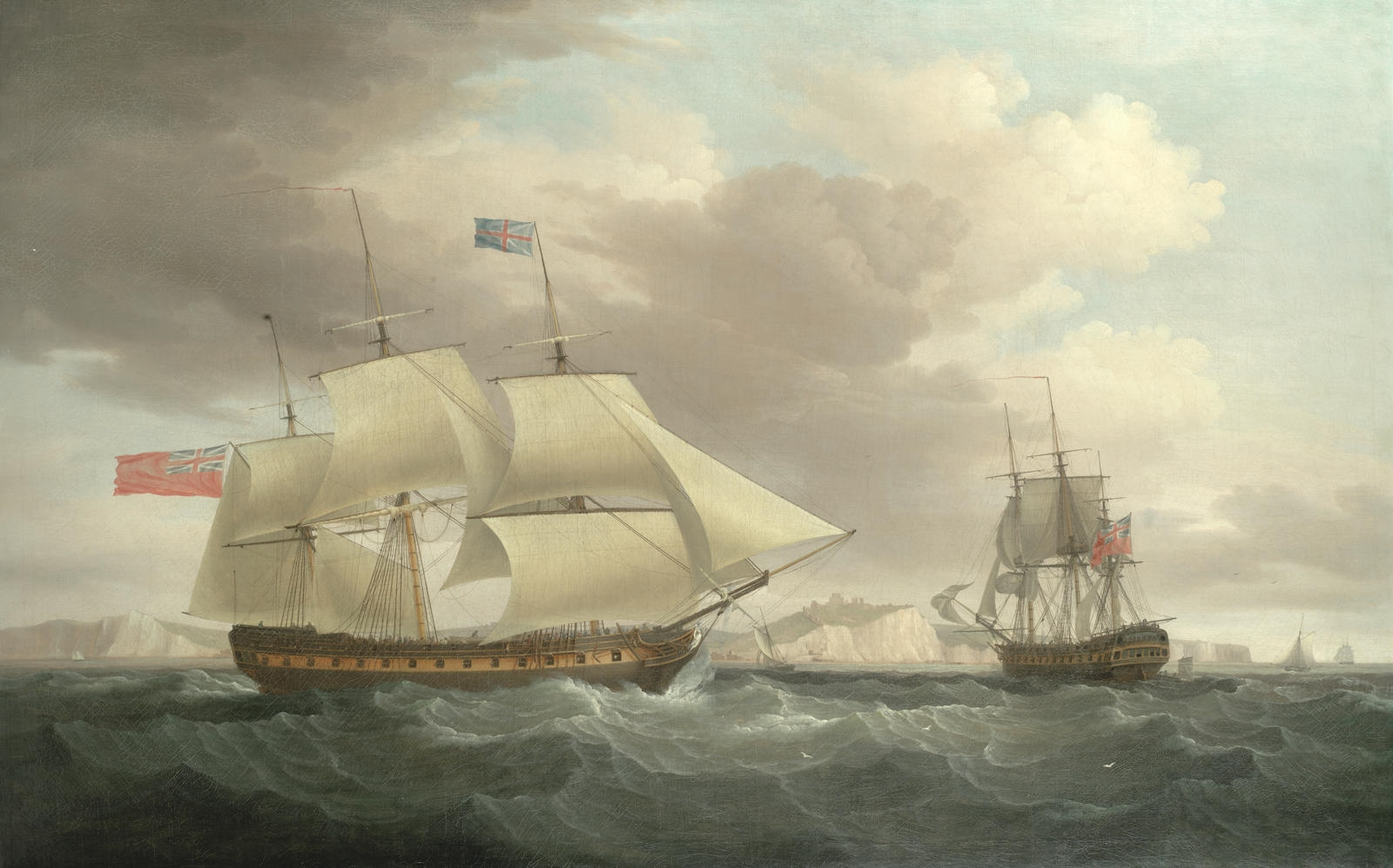 Surat Castle in 2 positions off Dover